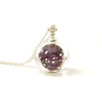 Night Sky Glass Pendant Necklace
