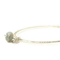 Storm Sterling Silver Charm Bangles