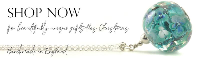 Long Glass Flower Necklace | Handmade Jewellery