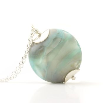 Misty Blues Lampwork Glass Necklace