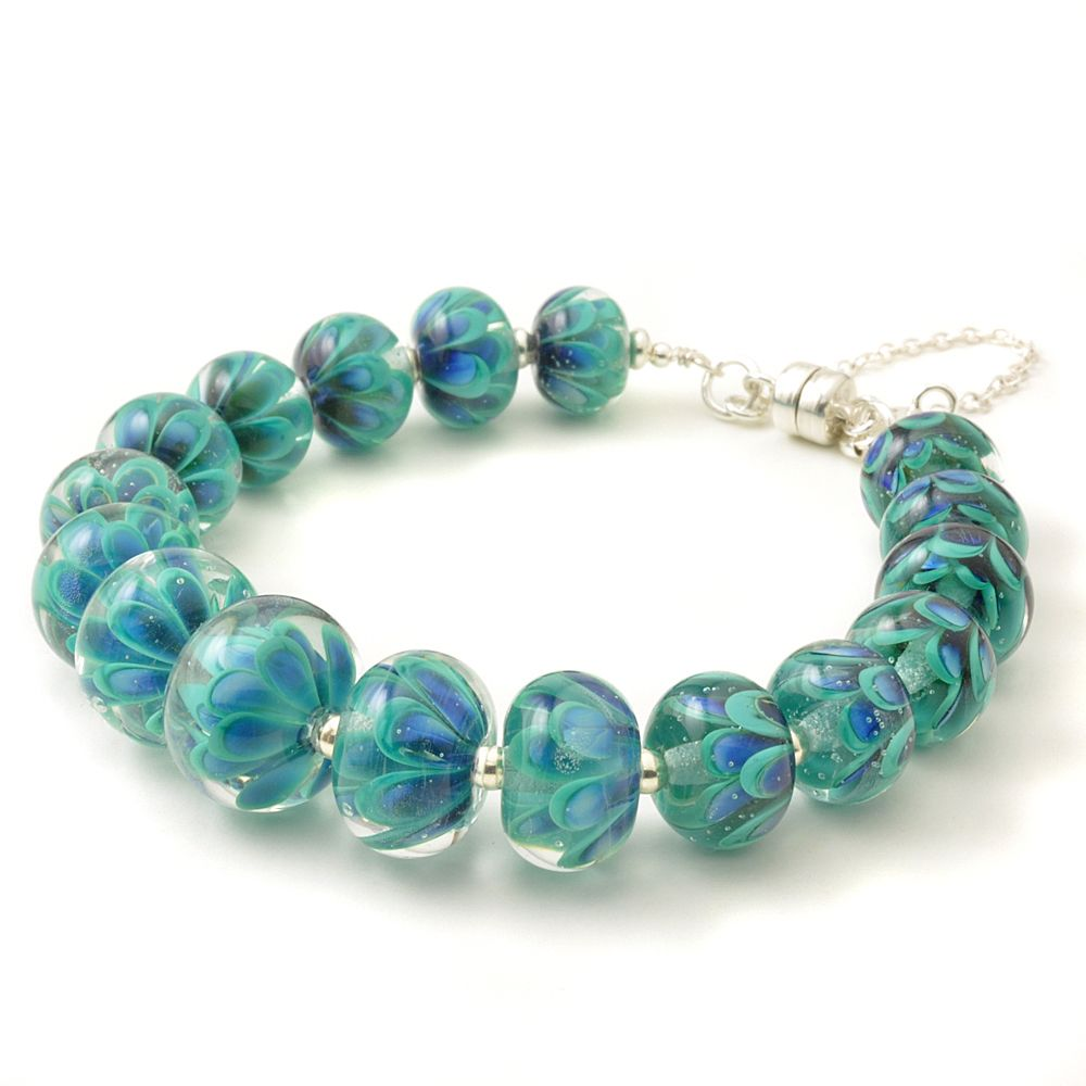 Beaded Petal Collection Bracelet