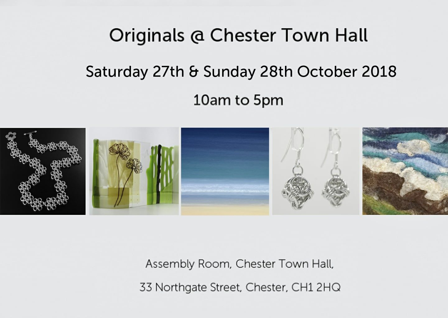 Originals at Chester Town Hall Art and Craft Event