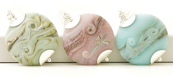 Flower Bomb Handmade Lampwork Glass Pendant Necklace