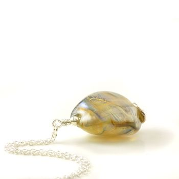 Gold Glass Nugget Necklace