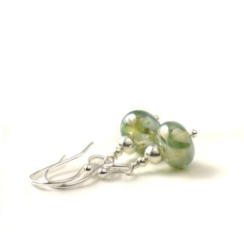 Metallic Lampwork Glass Earrings