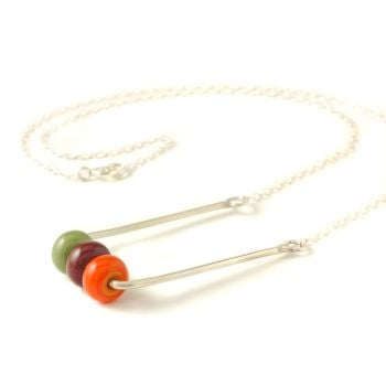 Bright Beaded Spinner Necklace