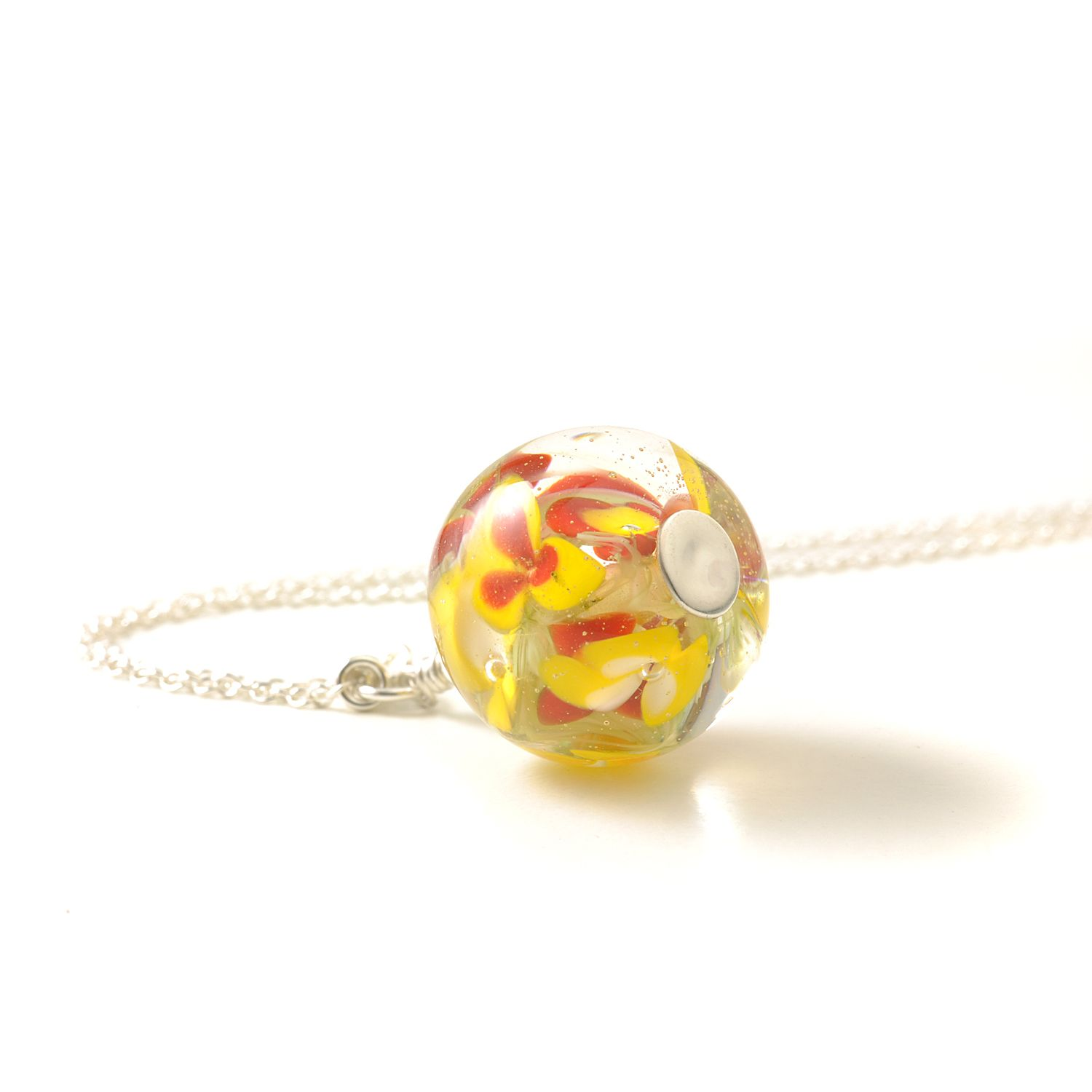 Handmade Lampwork Glass and Sterling Silver Necklaces
