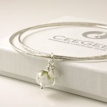 (WS) Petal Collection Charm Bangle