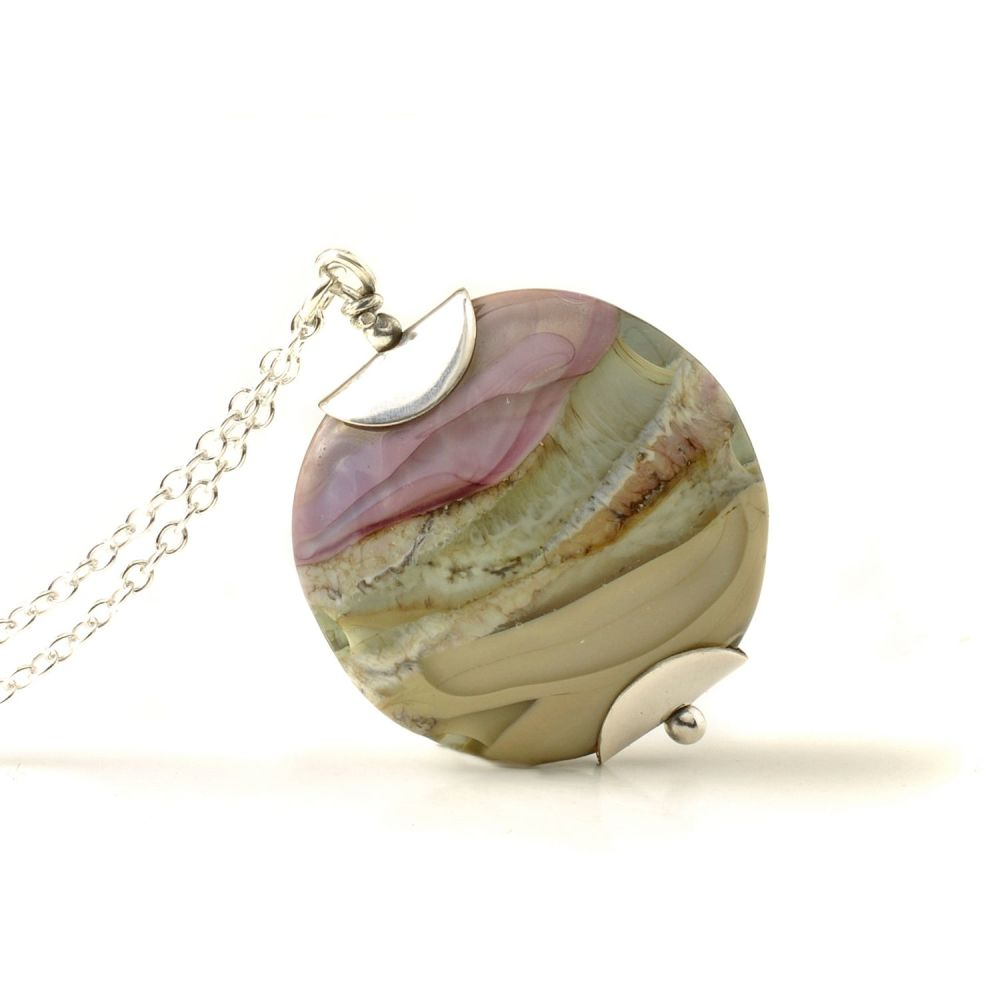Heathers Lampwork Glass Pendant Necklace