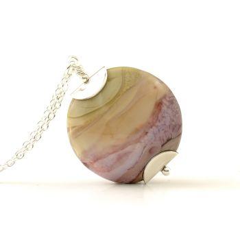 Calluna Lampwork Glass Pendant Necklace