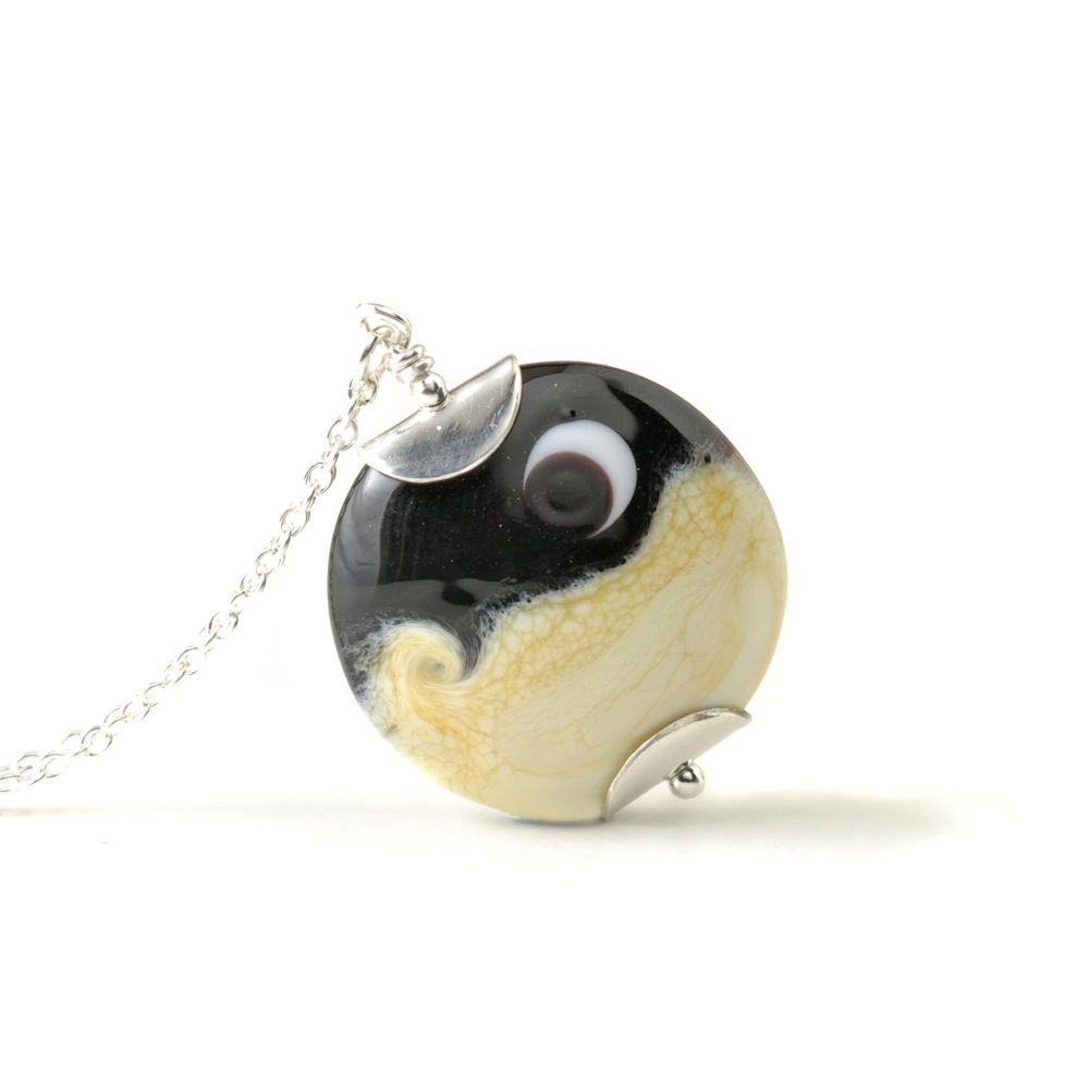 Luna Lampwork Glass Necklace