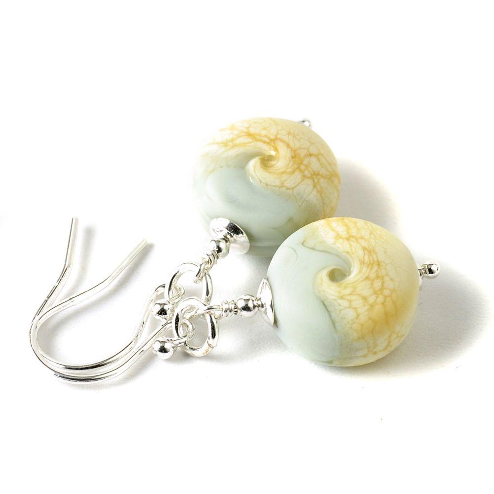 Shoreline Earrings in Pale Green
