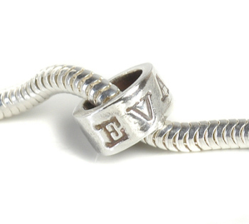 Personalised Pure Silver Name Charm Bead