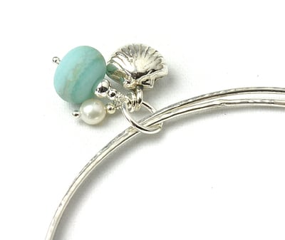 Coast Charm Bangles in Beach Blue