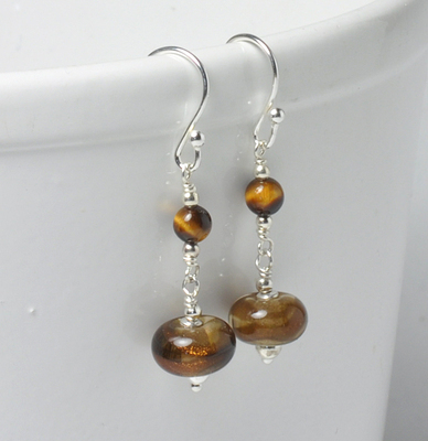 Sepia Gold Earrings