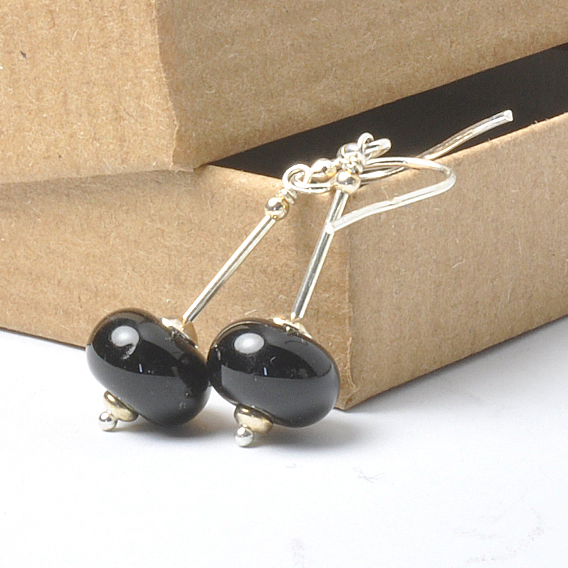 Black Stem Earrings