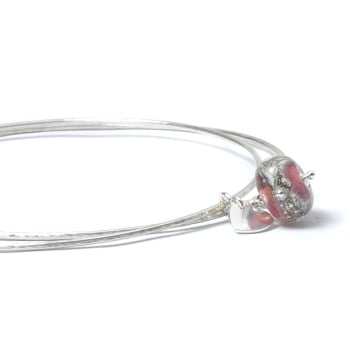 Starbright Sterling Silver Charm Bangles
