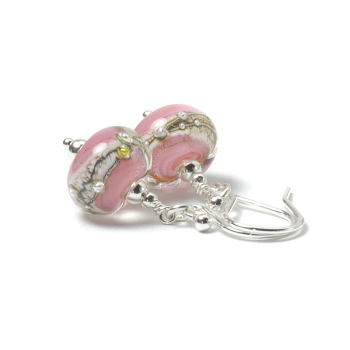Starbright Pink Glass Earrings