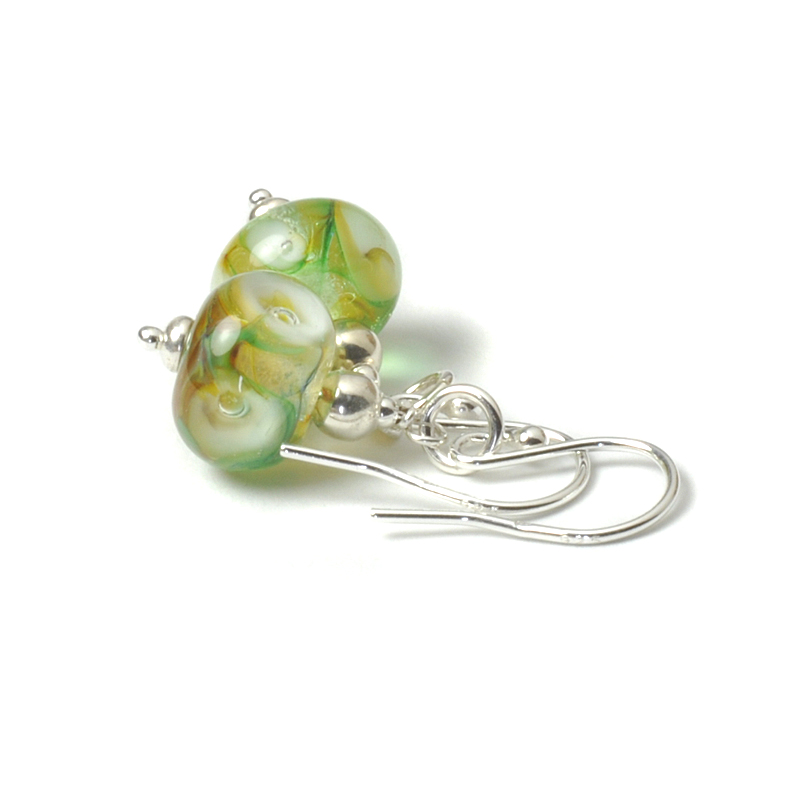 Calla Lily Handmade Glass Drop Earrings
