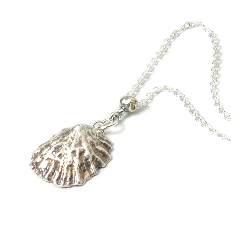 Pure Silver Shell Necklace