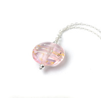 Simplicity Collection Pale Pink Lampwork Glass Necklace
