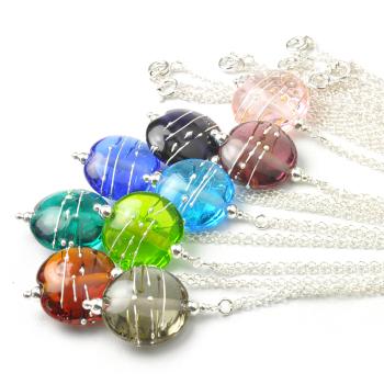 Simplicity Lampwork Glass Necklace