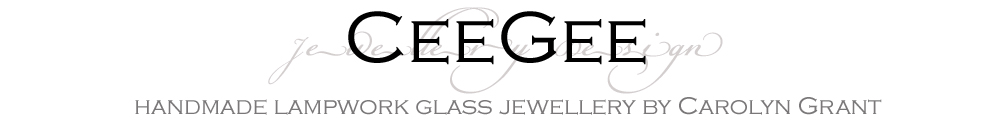 CeeGee Jewellery Design Handmade Silver and Lampwork Glass Jewellery, site logo.