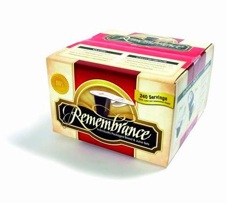 Remembrance Prefilled Juice/Wafer-Box of 240 (Pkg-240)