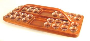 Combined Wooden Communion Tray & Plate GLT03 (Serves 32)