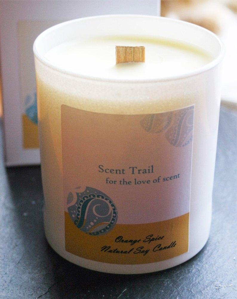 Orange Spice Soy Wax Tumbler Candle