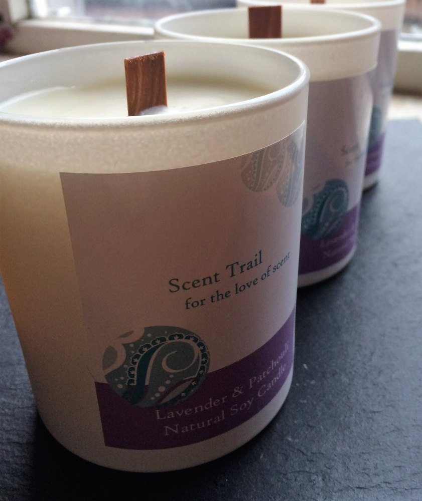 Lavender and Patchouli Soy Wax Tumbler Candle