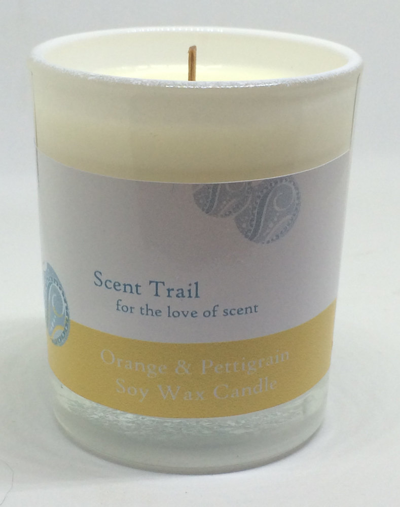 Orange and Pettigrain Soy Wax Votive Candle