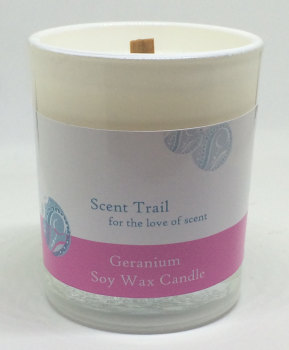 Geranium Soy Wax Wood Wick Votive Candle
