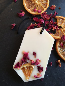 Orange and Rose Geranium Wax Tablet