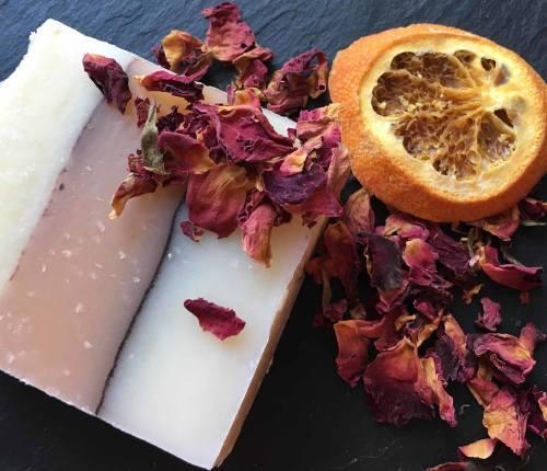 orange and rose geranium