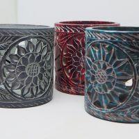 Carved Soapstone Tealight Holder