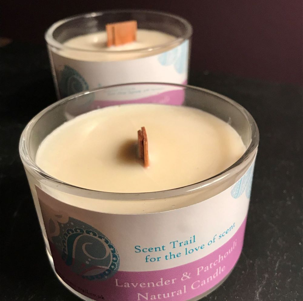 Lavender and Patchouli Rapeseed Wax Travel Candle