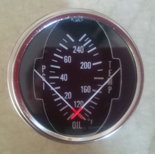 Dual Oil Temperature & Pressure Gauge