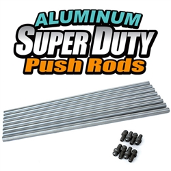 Aluminum Super Duty Push Rods - Dual Taper