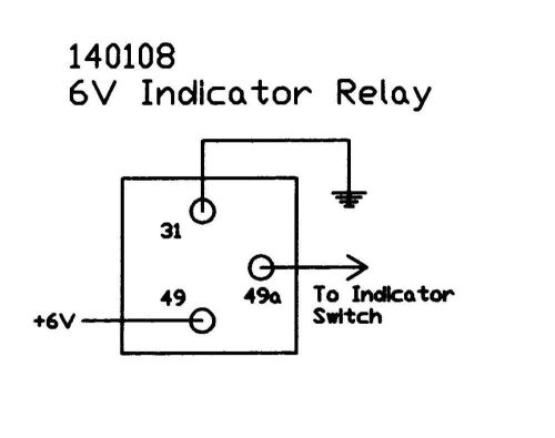 shop categories > gauges & electrical components > electrical components  6v  flasher relay