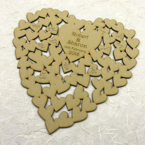 Heart Shaped Guest Book - MDF plaque