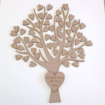 Guest book tree and hearts