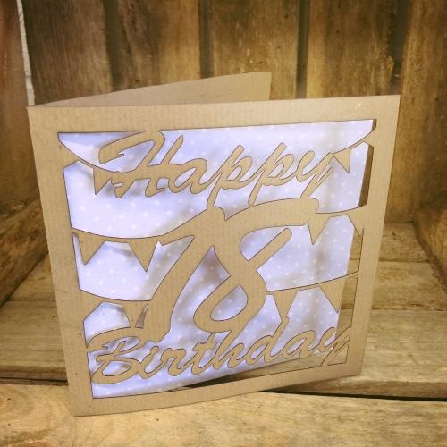 Laser cut greeting card 18