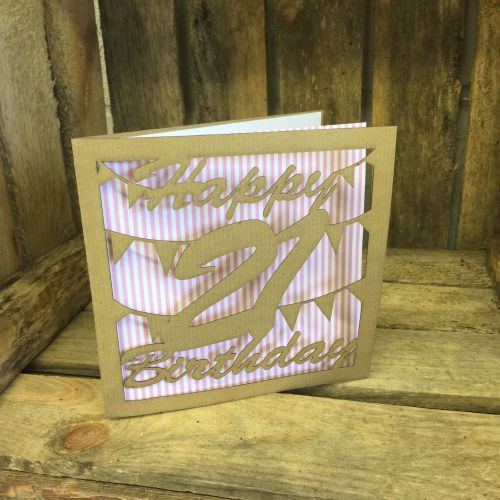 Laser cut greeting card 18