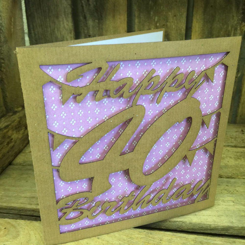 Laser cut greeting card 40