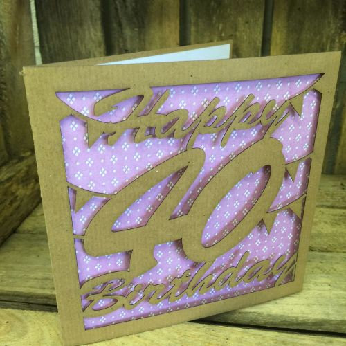 Laser cut greeting card 40