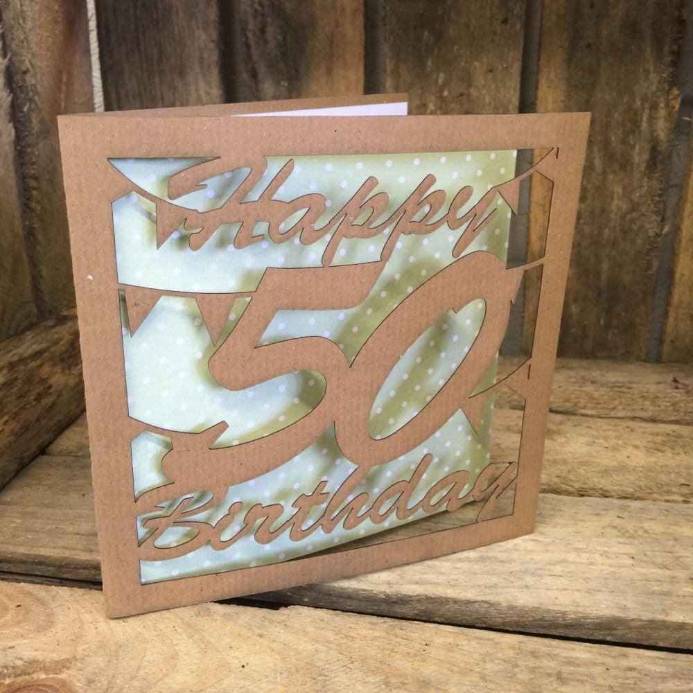 Laser cut greeting card 50