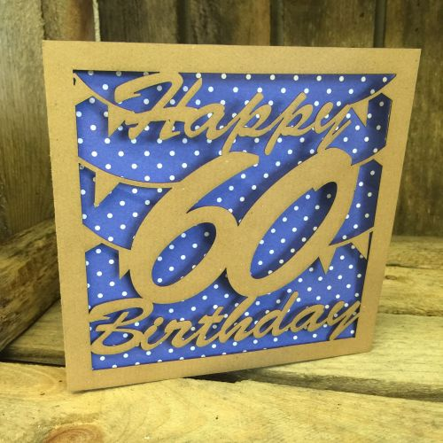 Laser cut greeting card 60