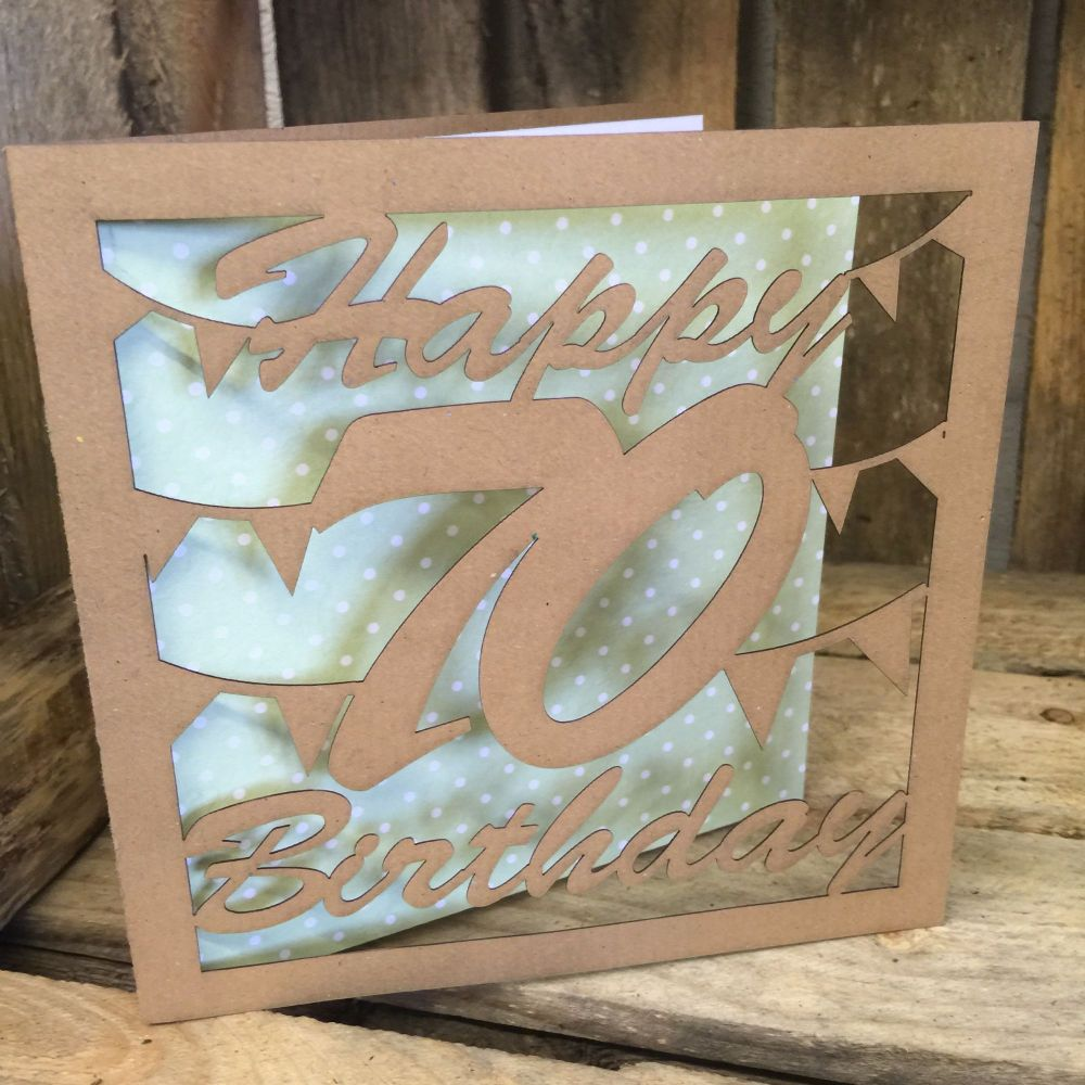 Laser cut greeting card 70