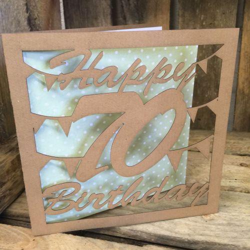 Laser cut greeting card 70